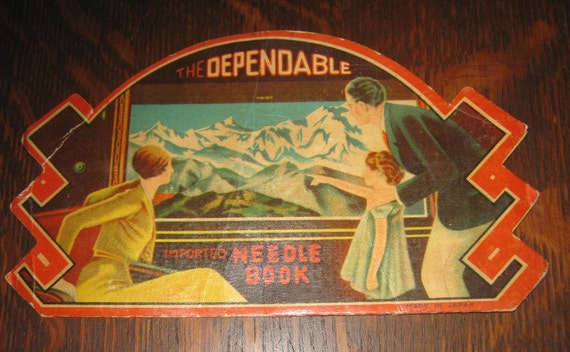 Vintage Needle Book - Dependable Needle Book with Great Retro Artwork