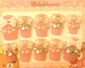 Hand made Japanese 3d nails (10 pieces)