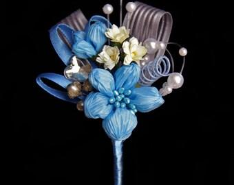 Boutonniere - True Blue