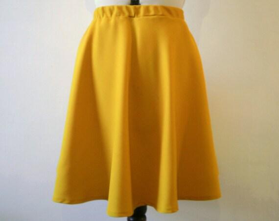 Yellow flared a line skirt small medium
