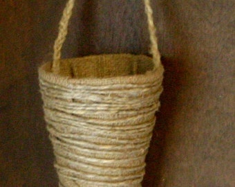Burlap cone for flowers ,wedding flower holders,