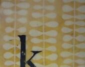 K - an original encaustic painting