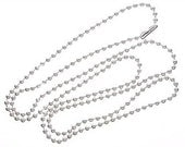 10 ct Ball Chain Necklaces Sterling Silver Plated 18 inch Ballchain with Connector