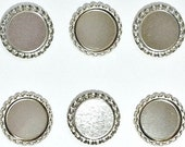 100 ct Bottle Caps SCRATCHED Flattened 1 inch Bottlecaps for Bottle Cap Jewelry Creations
