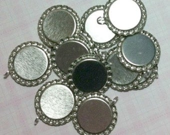500 ct Bottle Cap Pendants Flattened 1 inch Wholesale Crown Caps with Split Rings (BCFLP)