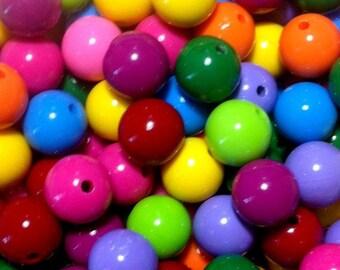 20ct Acrylic Gumball Beads 16mm Chunky Resin Beads (CBGB16-1000)