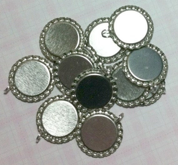 1,000 ct Bottle Cap Pendants Flattened 1 inch Wholesale Crown Caps with Split Rings