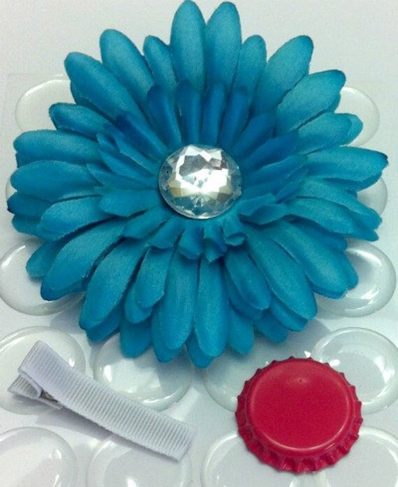 "SALE 12 Piece Gerber Daisy Flower DIY Kit 4"" Flower Alligator Clip - YOU Choose Colors"