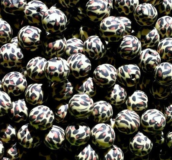 50 ct Cheetah Leopard Beads 8mm (SBCL8-1001)