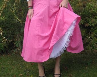 Vintage Pink Circle Skirt
