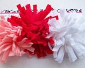 Pom Pom Mum Felt Flower Hair Clips - Set of 3