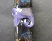 Purple twister - handmade lampwork focal bead