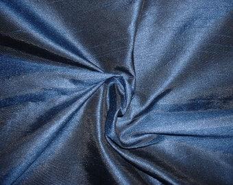 dupioni silk blend........blue half yard