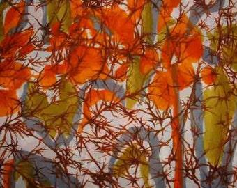 Multicolor screenprint Crepe Silk