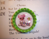 Lalaloopsy Pink Bottle Cap Necklace, Party Favor, Accessory