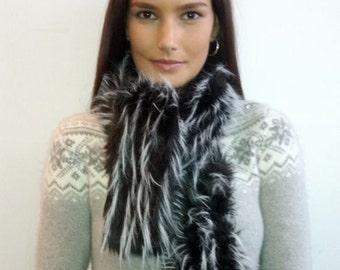 Fake fur scarf funky fuzzy