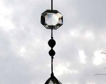 Glass suncatcher vintage chandelier beads
