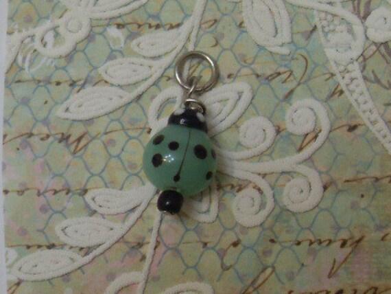 Green Lady Bug Charm