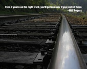 """Inspirational motivational photography reflection railroad train tracks: 'Right Side Of The Tracks' - 8"""" X 10"""" print"""
