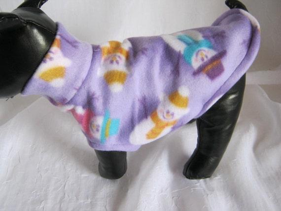 Sweater Snowmn on Light Lavender Fleece  Sz XSM