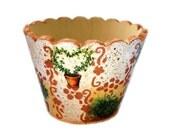Flower Pot Decorative Wooden Home Spring Decor
