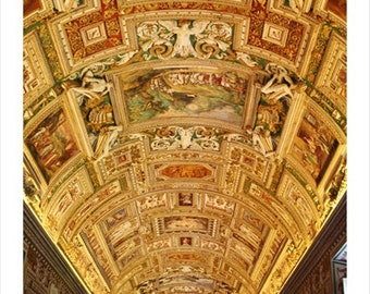 Vatican Museum Ceiling, Vatican Italy Photo Print