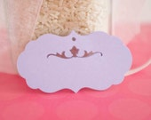 25 - Floral Filigree Note Cards, Tags, Thank you Notes, Wedding Favor tags