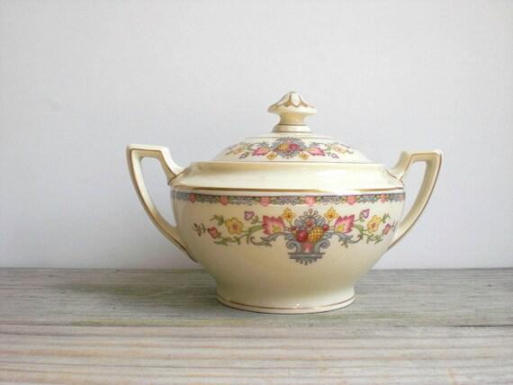 RESERVED LISTING -Vintage Bavaria china bowl / sugar bowl / candy dish / Community China / King Cedric / imported Bavaria / cottage chic