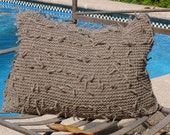 Grey Pillow Case, 100% Native patagonia wool handmade in Chile