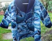 CLOSEOUT SALE Fleece Jacket-Toddler Boy's Size 4 Reversible Fleece Jacket