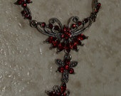 Red Ruby on Sterling Silver Necklace