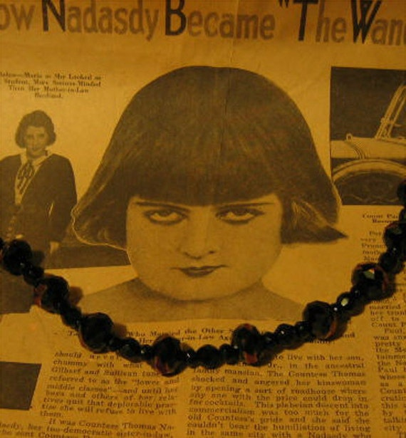 Black Beaded AB Necklace
