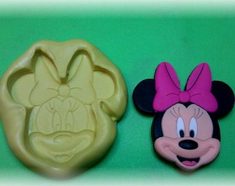 Silicone mold ,large face Minnie Mouse .