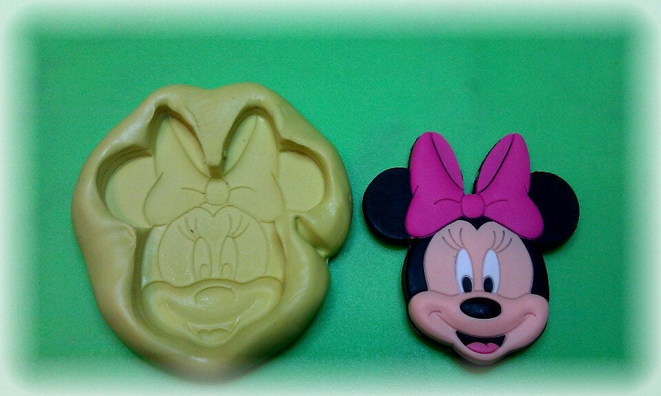 Silicone Mold Large Face Minnie Mouse