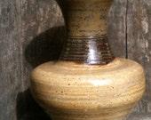 Unique Brown and Tan Ceramic Vase