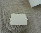 Reserved for BRIAKISS-- 175 blank vintage cream cardstock die cuts