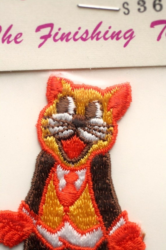 Vintage Gosh Golly Cat patch - brand new old stock - never been opened
