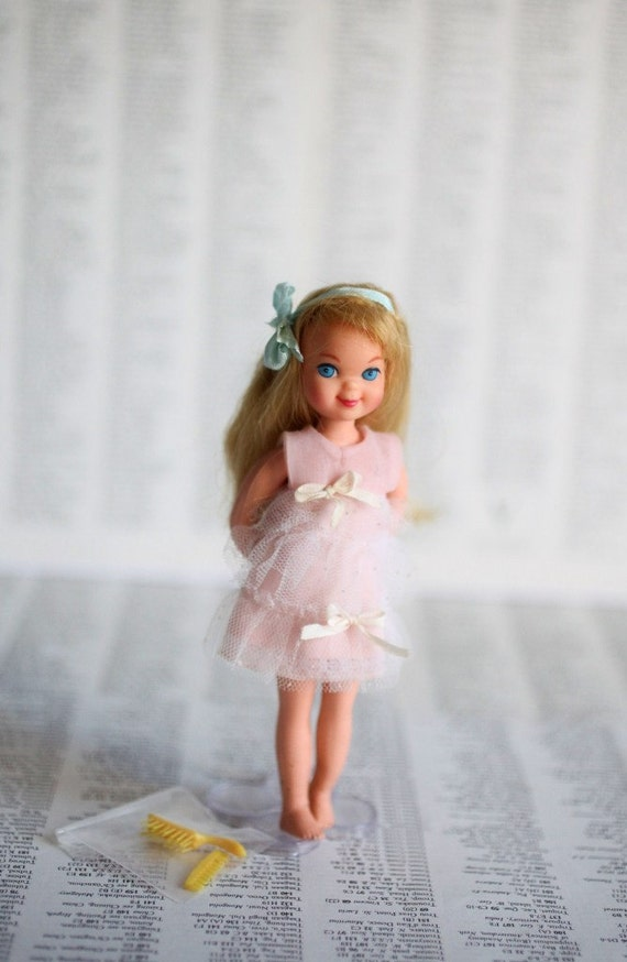 Vintage Mattel Tutti Doll In Her Melody In Pink By