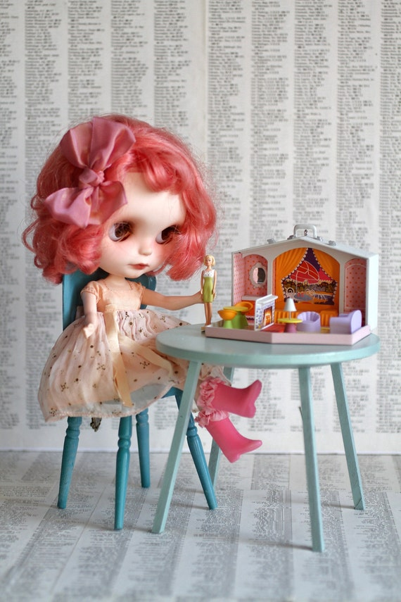Mini Barbie Dream House retro dollhouse - for 1/6 scale dollhouse collection - Mattel - perfect for Blythe, Pullip, and Lati