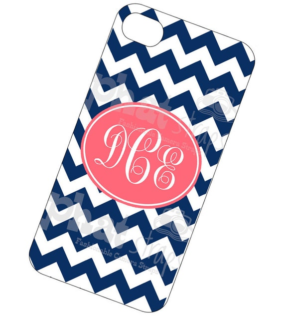 Monogrammed Iphone case 4 and 4s - Sailboat Chevy cell phone case