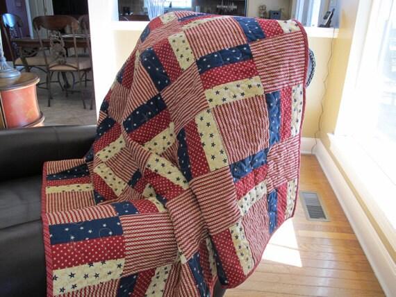 Americana Split Rail Lap Quilt or Table Topper