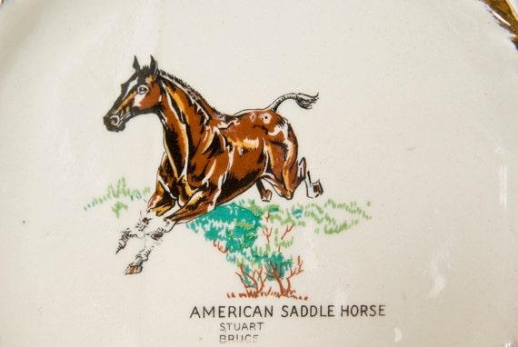 Stuart Bruce Porcelain American Saddle Horse Wall Hanging, Planter, Decor