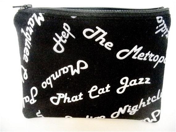 Jazz Music Zippered Pouch