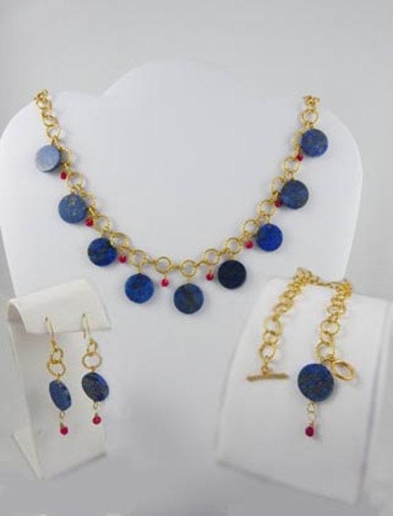 ORACLE - Lapis, rubies, 18k