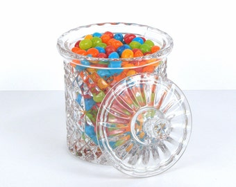 Leaded Cut Crystal Canister with Lid