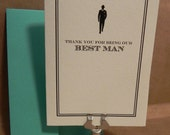Thank you for being our Best Man / Wedding / Greeting / Thank You Darby Cards Custom Printed Card