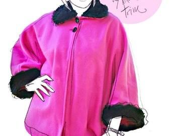 Pink Fleece Shawl