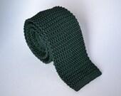 Green Knit Tie - Vintage Ralph Lauren Polo