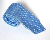 Spring Tie - Cotton - Blue