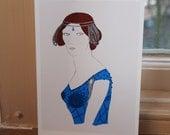 1920s / 1930s Lady Print